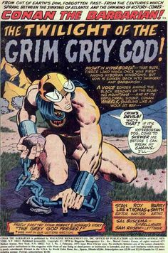 Conan Barbarian Splash Pages - - Yahoo Image Search Results Comic Book Artists, Comic Artist, Comic Books Art, Fantasy Comics, Fantasy Art, Roman, Ec Comics, Comic Book Panels, Conan The Barbarian