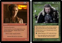 Game of Thrones as Magic: The Gathering cards