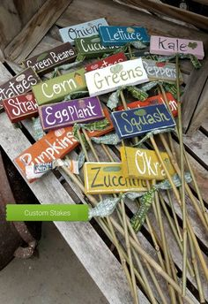Need some low maintenance garden design ideas? Learn the fundamentals and tips to creating the perfect low mainteance outdoor space in our feature article. Garden Labels, Plant Labels, Unique Gardens, Beautiful Gardens, Vegetable Garden Planning, Vegetable Garden Markers, Vintage Garden Decor, Unique Garden Decor, Garden Stakes