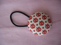 covered button ponytail holder
