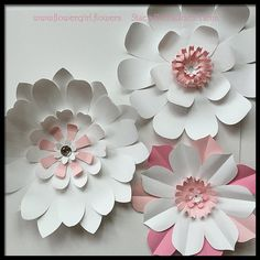 Giant Paper Flowers for Wall Decor or Wedding Party Photography Backdrop Extra Large Set of 3