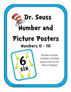 Dr. Seuss Number and Picture Posters!!
