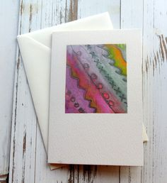 Blank card- birthday card - Silk painted card - abstract design - hand painted - hand crafted - cards for men - greeting card - uk seller by itsaMessyNest on Etsy