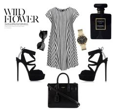 """""""Black black and gold."""" by courtneycrave on Polyvore"""