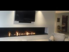 Design Fireplace with Modern Innovative Ethanol Burner Insert AFIRE in Milano Wall Mounted Fireplace, Fireplace Inserts, Ethanol Fireplace, Rustic Fireplaces, Foyers, Standing Fireplace, Decoration, Hearth, Innovation