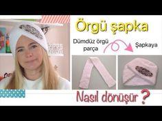 DIY- EN KOLAY ÖRGÜ ŞAPKA-HOW TO MAKE SUPER EASY KNIT TURBAN HAT - YouTube