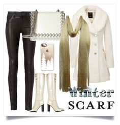 """""""Winter Scarf"""" by varazarana ❤ liked on Polyvore featuring Marc Jacobs, rag & bone, Kaviar Gauche and Casetify"""