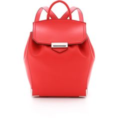 Alexander Wang Prisma Backpack (72.850 RUB) ❤ liked on Polyvore featuring bags, backpacks, cult, red leather backpack, red drawstring backpack, leather knapsack, red drawstring bag and alexander wang bag