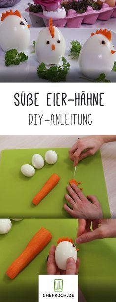 Süße Eier-Hähne fürs Osterfrühstück