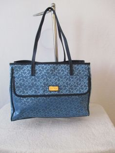 Tommy Hilfiger Blue Handbag Purse Authentic Brand NewTags Tote II 6933525 095 #TommyHilfiger #Totes