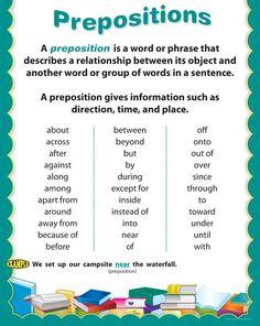 English grammar - Prepositions