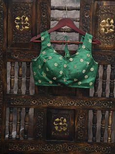 Green Satin Silk Banarasi Blouse Purple Satin, Green Satin, Teal Green, Pink, Green Blouse, Suits You, Mix Match, Signature Style, Silk Satin