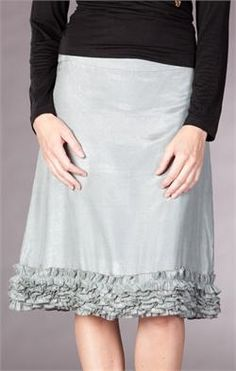 DownEast Happy Hem Skirt $35. Like the texture of the ruffles on bottom. Would also be cute in knit.