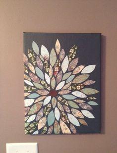 -1 12x16 inch canvas $5.99 (with 40% off coupon, originally $9.99) -1 Artist's Loft 4 oz acrylic grey paint $3.99  -5 pieces of scrap book p...