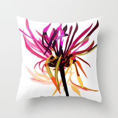 This dancing flower design is fun, modern , and stays in bloom year round. This decorative throw pillow cover is made from 100% spun polyester poplin fabric, and features a stylish art image on both s