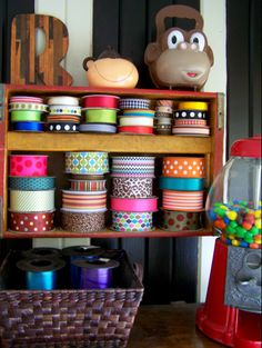 Kitschy Cute Upcycled Craft Room {Older