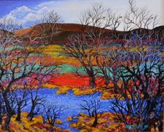 "Saatchi Art Artist Michael H Taylor; Painting, ""Long Lake"" #art"
