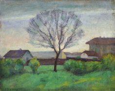 Czigány Dezső (1883-1938)  Kora tavaszi alkony  Olaj, papírlemez, 37x47,5cm