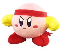 Official Nintendo Kirby Adventure Plush Toy - 6 Kirby Fighter (Japanese Import)