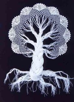 PRECIOUS FINDINGS: Crochet tree ♥LCPF♥ with diagrams, it's so easy to do. - so easy to do? Crochet Tree, Freeform Crochet, Thread Crochet, Crochet Motif, Irish Crochet, Crochet Designs, Crochet Crafts, Crochet Doilies, Crochet Flowers