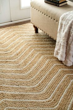 Rugs USA - Area Rugs in many styles including Contemporary, Braided, Outdoor and Flokati Shag rugs.Buy Rugs At America's Home Decorating SuperstoreArea Rugs Crochet Carpet, Crochet Home, Natural Area Rugs, Natural Rug, Jute Rug, Woven Rug, Tyni House, Braided Rag Rugs, Chevron Rugs
