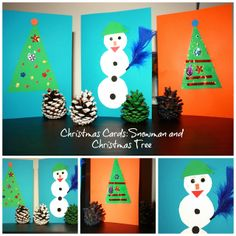 Christmas card romanian christmas pinterest christmas cards craft snowman and christmas tree m4hsunfo