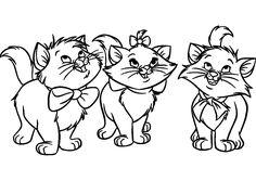 Dibujo para colorear de gatos (nº 12)