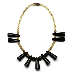 Horn Beaded Necklace - ND4045