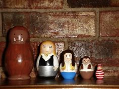 Labyrinth character nesting dolls. One of the coolest things I have ever made.
