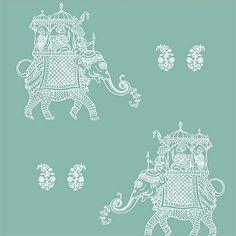 Ophelia Turquoise Elephant | 1014-001839 | Boho Chic Elephant