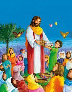 Sunday School Kids Bible Stories Activity: Jesus Feeds the 5000 | Sunday school | Pinterest | Activities, Sunday school and Schools