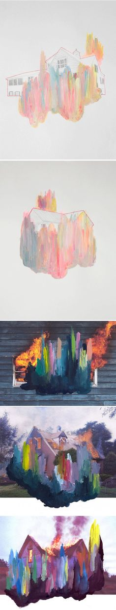 jennifer mehigan - burn baby burn.  {mixed media}