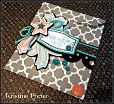 Merry Heart Creations: August Stamp of the Month Blog Hop #ChalkItUp #DesignerCreations #SlatePaperBags