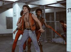Vermin Cochise and Rembrandt on the run from the cops. The Warriors movie. Warrior Movie, Coney Island, Movies Showing, Good Movies, Warriors, Nyc, Rembrandt, Period, Comics