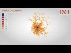 Así es como se ha expandido la ciudad de México con el tiempo (VIDEO) « MX City: guía insider a la ciudad de México