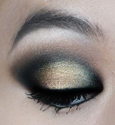 Gold and Black Dramatic eye