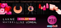 'A women's best #cosmetic is her smile'... but these ones will make her steal the show.      http://www.snapdeal.com/products/perfumes-beauty-cosmetics?q=Brand: Coloressence^ Lakme^Loreal^Maybelline=plrty_source=Fbpost_campaign=Delhi_content=888910_medium=081012_term=Prod