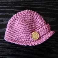 Newsboy Cap is a free crochet pattern for beginners.