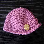 Newsboy Cap is a free crochet pattern for beginners.