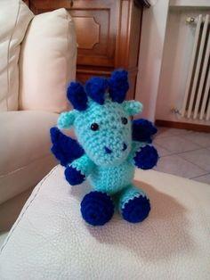 Prima di tutto mi scuso per il nome ma lo ha scelto mio figlio Simone di tre anni e mezzo. Ho trovato questo simpatico drago nel sito ...