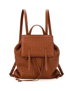 9413f7a3fa4 Bottega Veneta Medium Intrecciato Leather Backpack