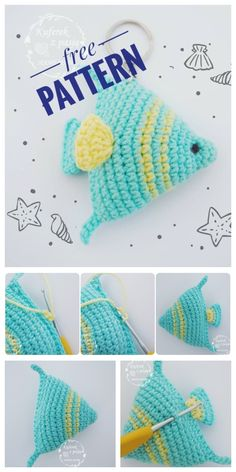 Crochet amigurumi 571535008960878365 - Crochet Fish Keychain Amigurumi Free Patterns Source by Crochet Easter, Crochet Crafts, Crochet Projects, Free Crochet, Crochet Baby, Amigurumi Free, Crochet Patterns Amigurumi, Crochet Dolls, Amigurumi Doll
