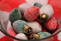 glittered christmas light bulbs