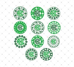 St. Patricks Day Monogram Frame SVG Cut Files for Cricut and Silhouette, cutting files for scrapbooking, card making, paper crafts, invitations, photo cards, vinyl decals and more.