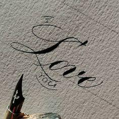 Андрей (@_andrew_kam) • Фото и видео в Instagram Calligraphy Text, Heart Shapes, Love You, Valentines, Ink, Paper, Instagram, Valentine's Day Diy, Te Amo