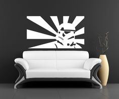 Bugger the stormtrooper, what a fabby sofa.