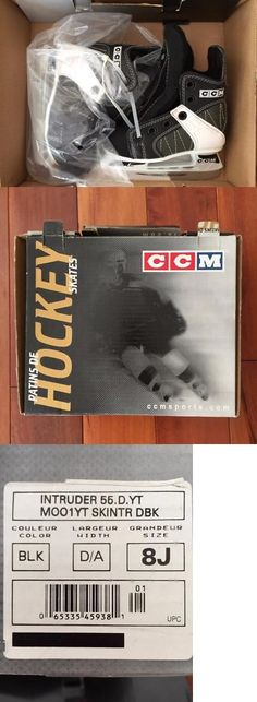 Ice Hockey-Youth 26342: New Ccm Intruder 55 Ice Hockey Skates Boy S Size 8J -> BUY IT NOW ONLY: $45.99 on eBay!