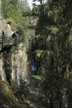 In Johnston Canyon, Canada