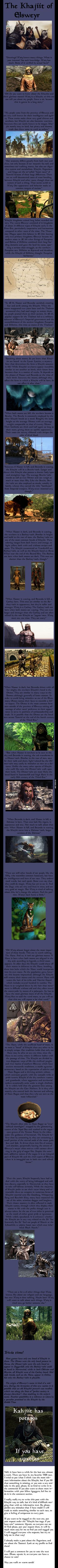 The Elder Scrolls Races: Khajiit (Warning: Long Post)