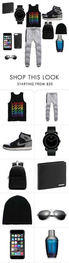 """""""Untitled #239"""" by reka15 on Polyvore featuring Hybrid, NIKE, Movado, Lacoste, Porsche Design, Ermanno Scervino, County Of Milan, HUGO, Prada and men's fashion"""